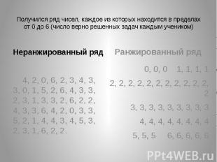 Получился ряд чисел, каждое из которых находится в пределах от 0 до 6 (число вер