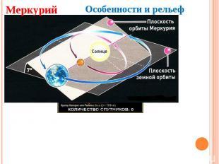 Меркурий Особенности и рельеф