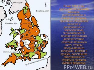 В мае 1381 года крестьяне нескольких деревень, расположенных к северу от Лондона