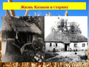 Жизнь Казаков в старину