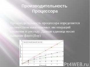 Производительность Процессора Производительность процессора определяется количес