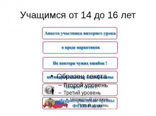 Учащимся от 14 до 16 лет