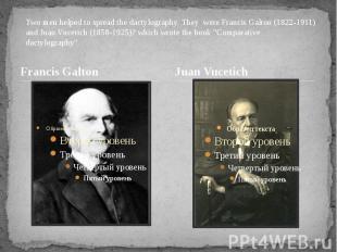 Francis Galton Francis Galton здесь ошибка про уровни просто не замечайте их