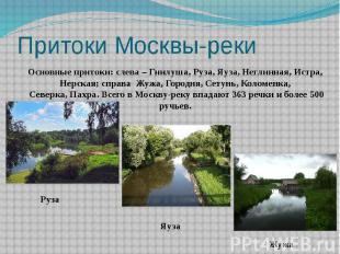 Притоки Москвы-реки