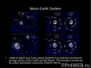 Moon-Earth System Orbitron Moon and Earth joined systems use potential and kinet