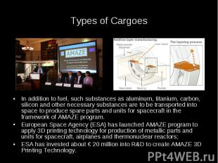 Types of Cargoes In addition to fuel, such substances as aluminum, titanium, car