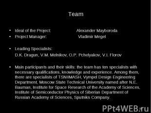 Ideal of the Project: Alexander Mayboroda Ideal of the Project: Alexander Maybor