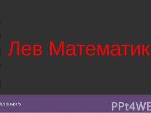 Категория 5 Лев Математик