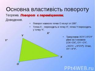 Теорема. Поворот є переміщенням. Теорема. Поворот є переміщенням. Доведення.