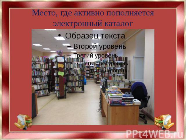 Место, где активно пополняется электронный каталог
