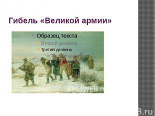 Гибель «Великой армии»