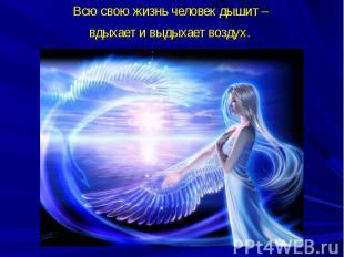 Всю свою жизнь человек дышит – вдыхает и выдыхает воздух.