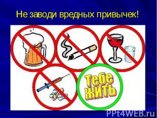 Не заводи вредных привычек!