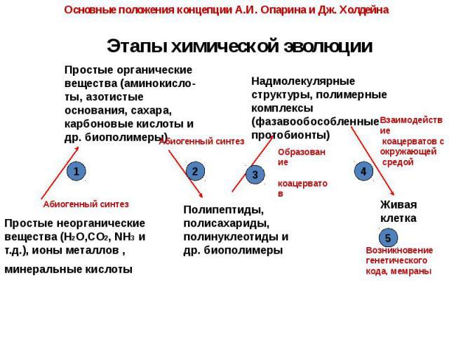 Этапы химической эволюции