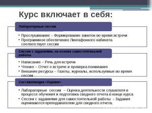Курс включает в себя: