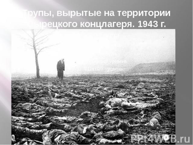 Трупы, вырытые на территории Сырецкого концлагеря. 1943 г.