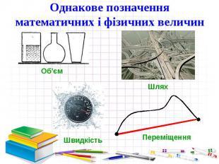 Однакове позначення математичних і фізичних величин