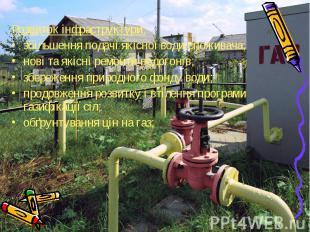 Розвиток інфраструктури: Розвиток інфраструктури: збільшення подачі якісної води