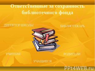 Ответственные за сохранность библиотечного фонда