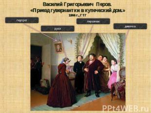 Василий Григорьевич Перов. «Приезд гувернантки в купеческий дом.»1866 г., ГТГ