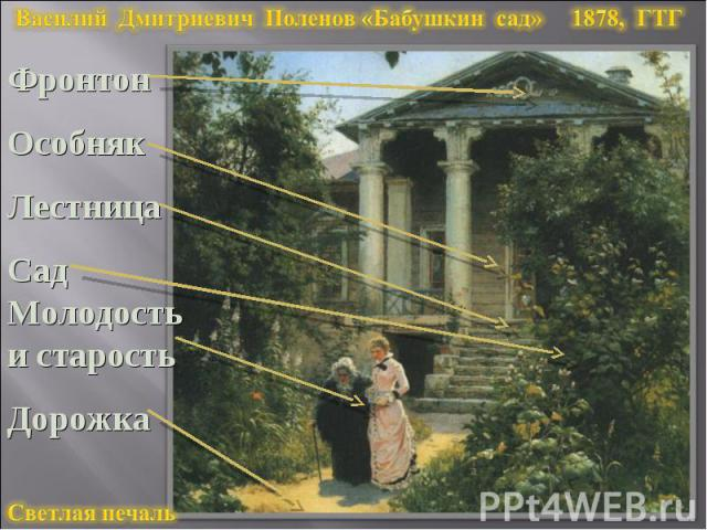 Василий Дмитриевич Поленов «Бабушкин сад» 1878, ГТГ