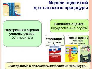 Модели оценочной деятельности: процедурыЭкспертные и объективизированные процеду
