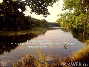 Заочная экскурсия в Государственный природоохранный заповедник «Воронинский»