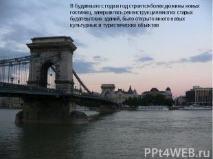 В Будапеште с года в год строится более дюжины новых гостиниц, завершилась рекон