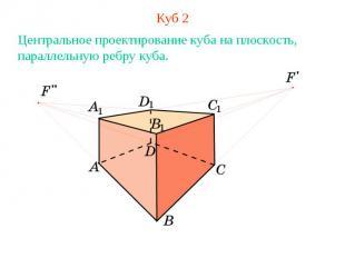 Куб 2Центральное проектирование куба на плоскость, параллельную ребру куба.