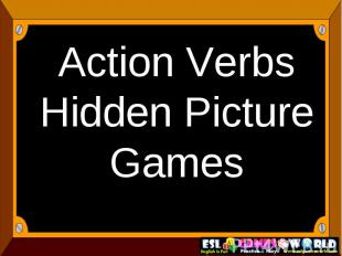 Action Verbs Hidden Picture Games