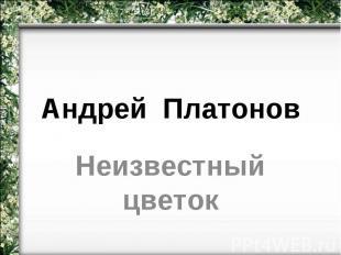 Андрей Платонов Неизвестный цветок