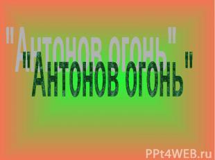 """""""Антонов огонь"""""""