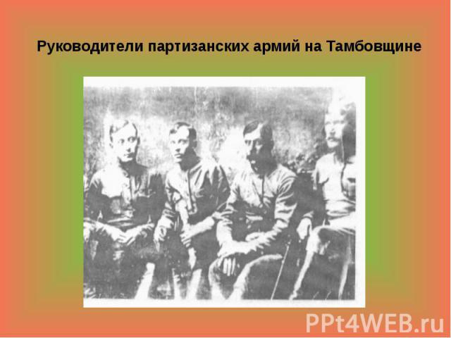Руководители партизанских армий на Тамбовщине