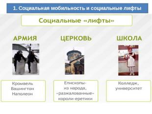 1. Социальная мобильность и социальные лифты