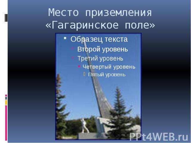 Место приземления «Гагаринское поле»