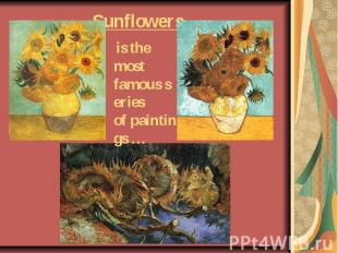 Sunflowers is the most famousseries ofpaintings …