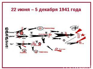 22 июня – 5 декабря 1941 года