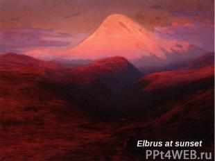 Elbrus at sunset