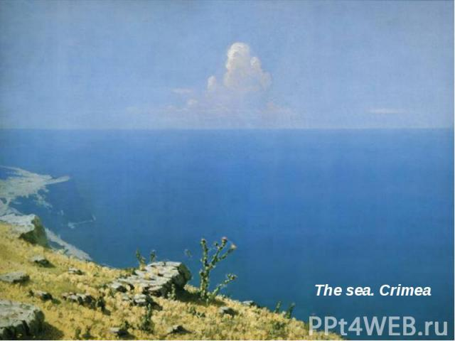 The sea. Crimea