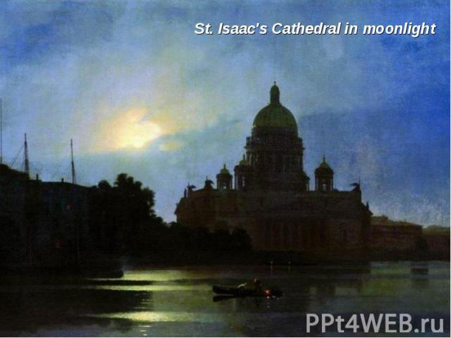 St. Isaac's Cathedral in moonlight