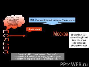 Василий Шуйский и Лжедмитрий IIВ сентябре 1609 г. под предлогом заключения русск
