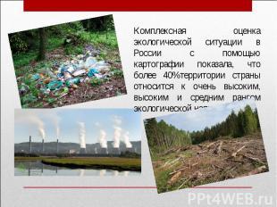Комплексная оценка экологической ситуации в России с помощью картографии показал