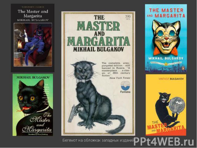 Бегемот на обложках западных изданий