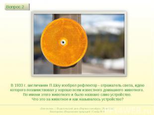 В 1933 г. англичанин П.Шоу изобрел рефлектор - отражатель света, идею которого п