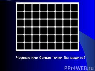 Черные или белые точки Вы видите?