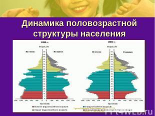 Динамика половозрастной структуры населения