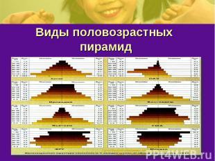 Виды половозрастных пирамид