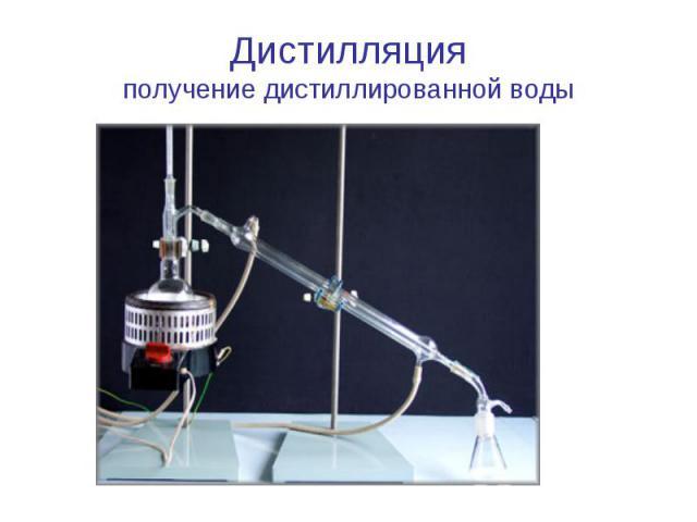 Дистилляцияполучение дистиллированной воды