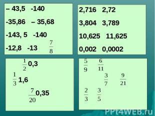 – 43,5 -140-35,86 – 35,68-143, 5 -140-12,8 -13 2,716 2,723,804 3,78910,625 11,62