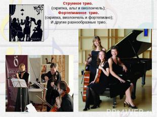 Струнное трио. (скрипка, альт и виолончель);Фортепианное трио.(скрипка, виолонч